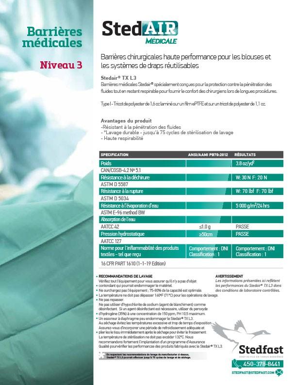 Stedair® Médicale : Niveau 3